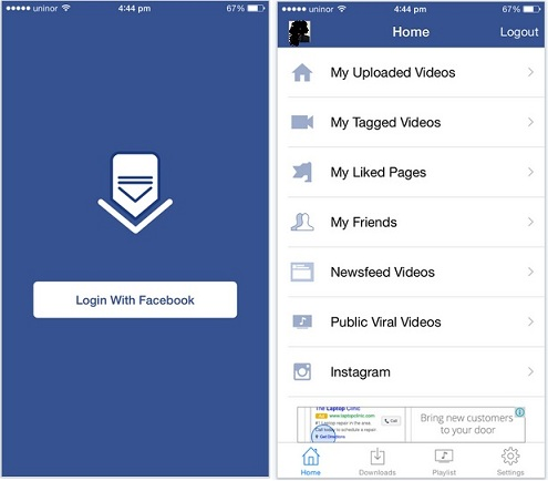 Download FaceBook video in iPhone, iPad and iPod