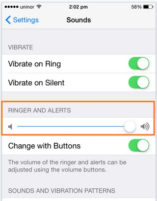 iPhone 6 ringtone is not ringing and volume level