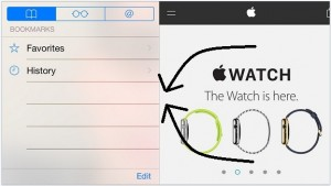 how to Hide Bookmark Pane in safari landscape on iPhone, iPad