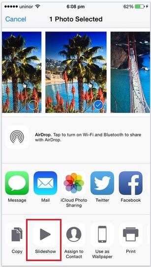 Slideshow option for enable slideshow