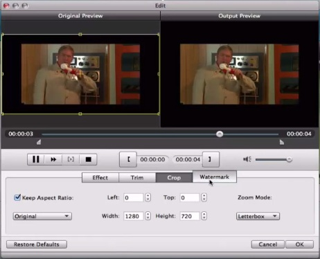 Edit video in Tools before start Burning