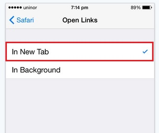 Select new link open in new tab