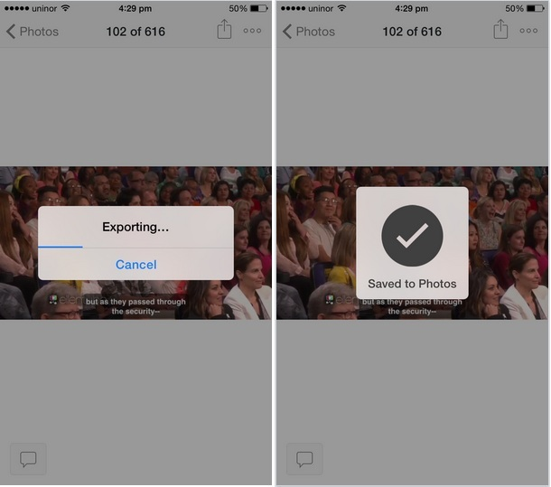 Exporting process from dropbox to your device for offline access