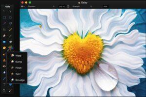 Инструменты конструктора pixelmator для Mac