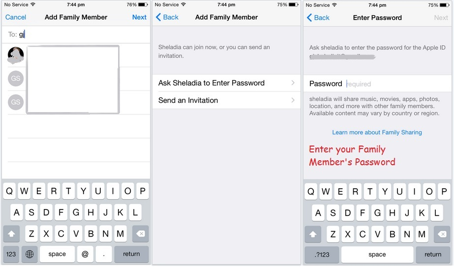 Request type for add apple ID