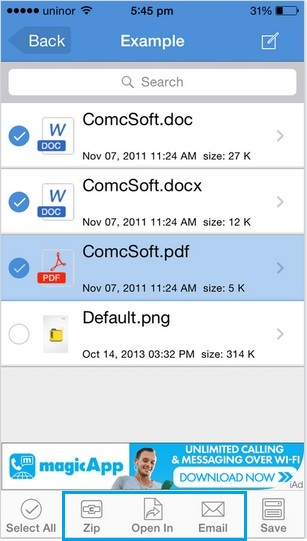 Multi file selection in iPhone, iPad