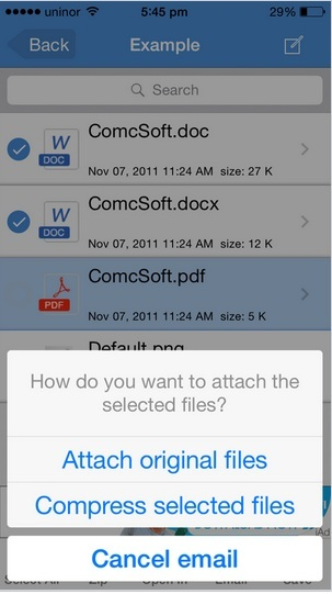 Send mail attachment from files