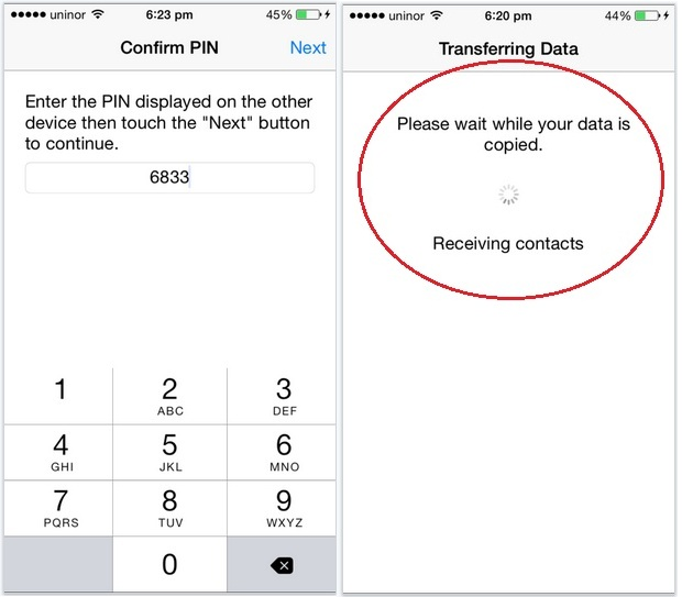 Verify device with enter code in iPhone