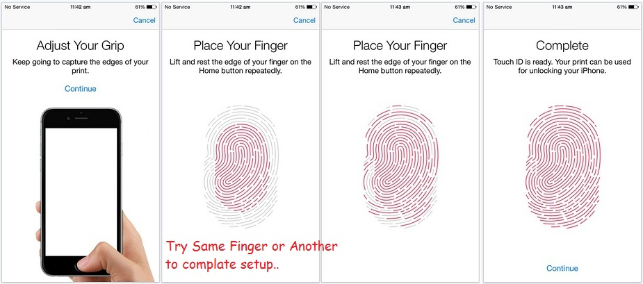 Re scan your Finger or try with another