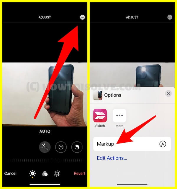 Add Text on Photo using Markup on iPhone photos app