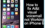 How to fix At&t visual Voicemail iPhone 6 not working