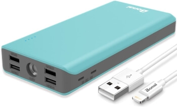 BONAI 5.6A 4-Port Output External Battery Pack