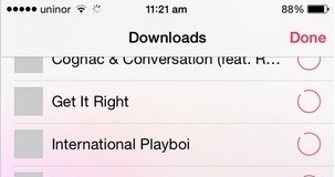 See all song downloading in your iOS device
