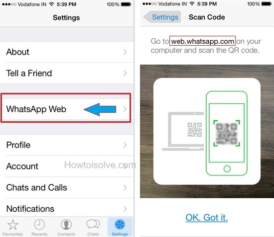 How to use WhatsApp Web using iPhone 6, iPhone 6 plus