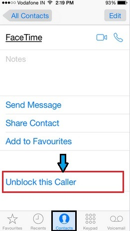 How to unblock Contact on iPhone , iOS 8 and iOS 9,
