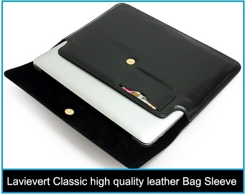 good Lavievert Classic high quality leather Bag Sleeve