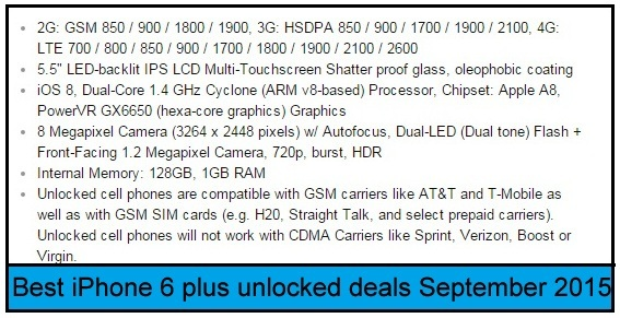 amazing Specification of iPhone 6 Plus 2015
