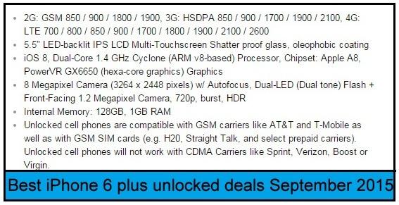 amazing Specification of iPhone 6 Plus 2015