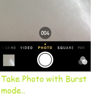 Take and save photo in burst mode