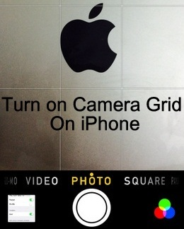 best Way to start grid on iPhone camera app