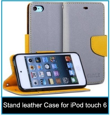 Stand leather Case for iPod touch 6th Generation