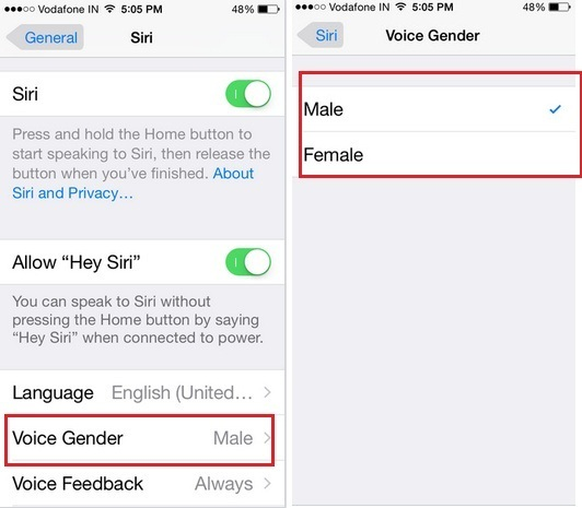 Way to Change Siri's Voice on iPhone 6 or 6 Plus