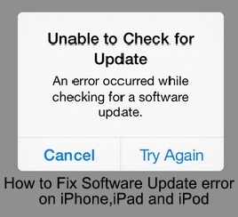How to fix an error occurred while checking for a software update
