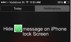 How to Stop WhatsApp message on iPhone lock screen