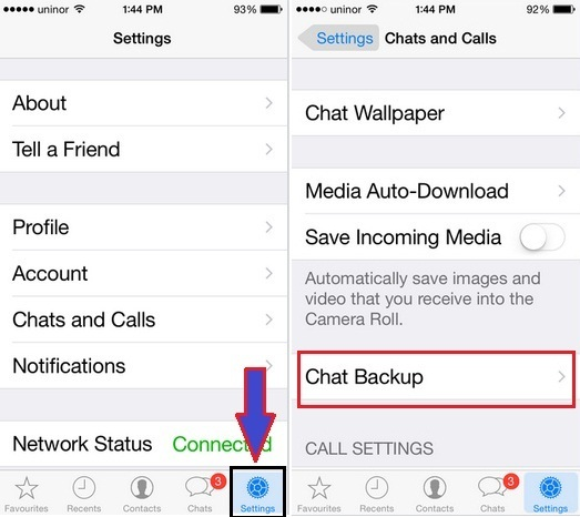 how to take video backup in iPhone Whatsapp