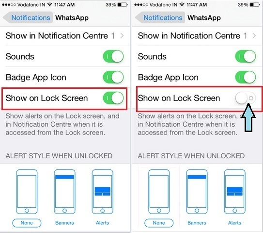 How to hide WhatsApp message on iPhone lock screen, iPhone 6, iPhone 6 plus