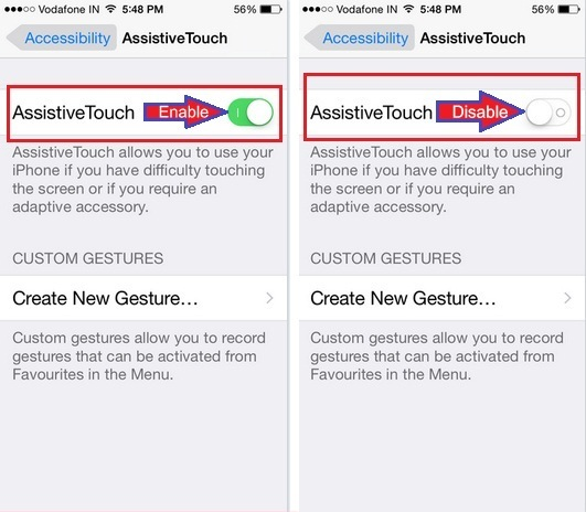 How to disable/ turn off Assistive touch on iPhone 6, 6 Plus