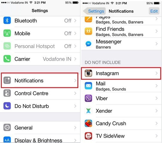 steps for Turn on Instagram notification on iPhone, iPad, iPod Touch