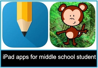 Best iPad apps for middle school student 2015