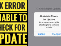 unable to check for update error iphone ipad iod touch