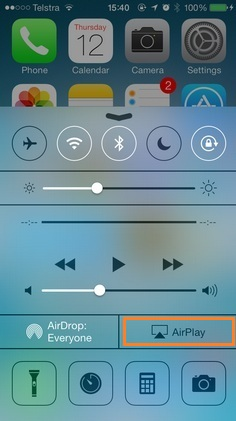 AirPlay icon missing in iPhone 6S, 6S Plus with iOS 9