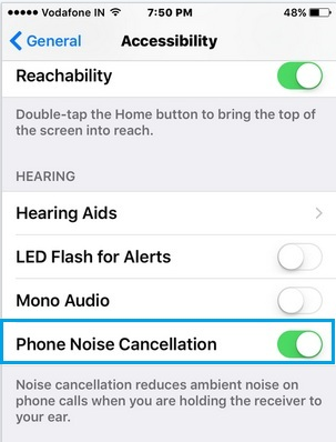 Enable Phone noise cancellation under the setting