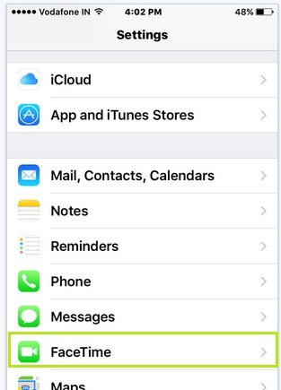 Change FaceTime caller ID in iPhone as a number or Mail ID