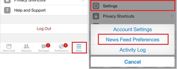 Follow and Unfollow all the facebook friends in iPhone, iPad: iOS 8/ iOS 7