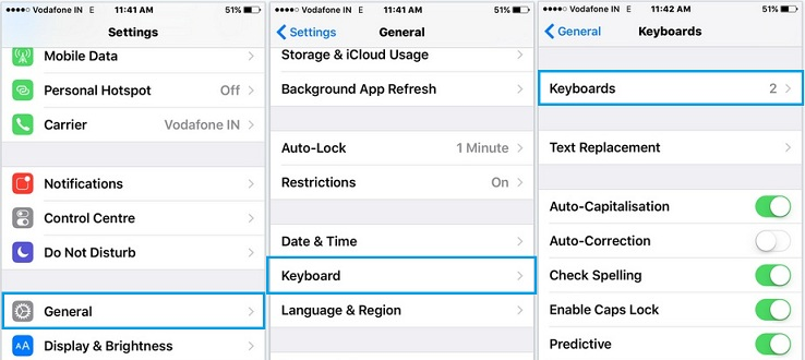 Change keyboard language in iOS 9 with iPhone, iPad and iPod