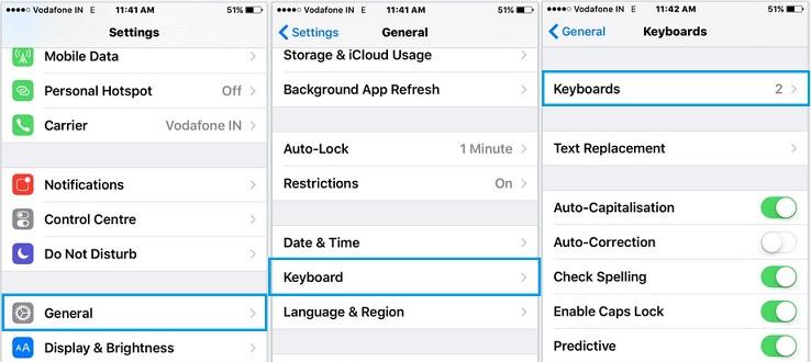 Change keyboard language in iOS 9 with iPhone, iPad and iPod