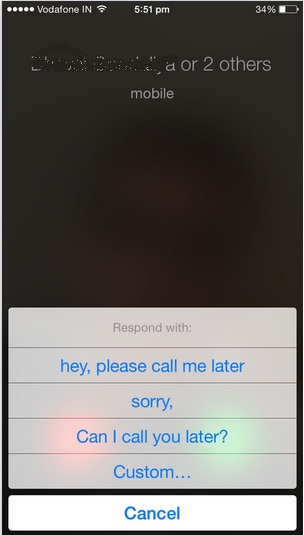 respond with text in iPhone, iPad running on iOS 8