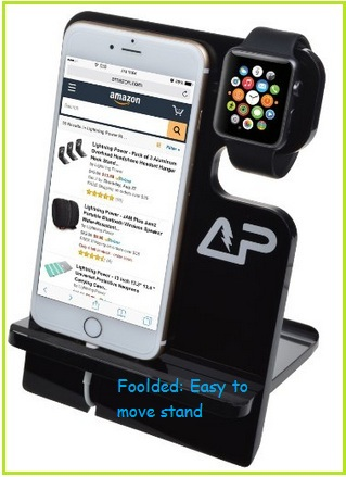 Acrylic iPhone stand for Apple watch and iPhone