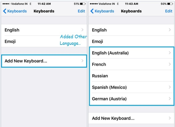 Choose language that you want in keyboard