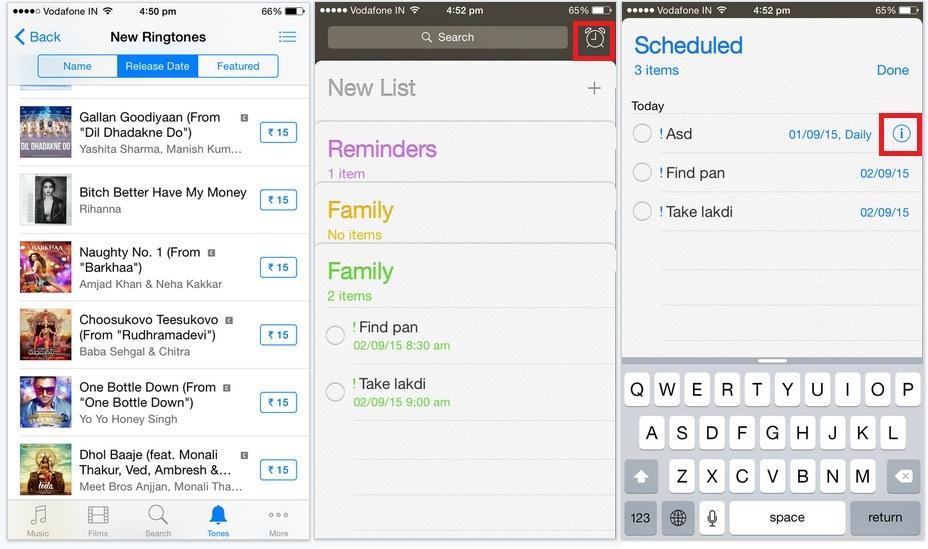 Through reminder app in iPhone