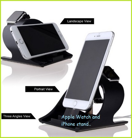 Dual stand for iPhone and Watch