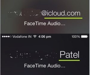 FaceTime call screen at the receiver end