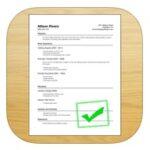 Resume designer app for iOS device