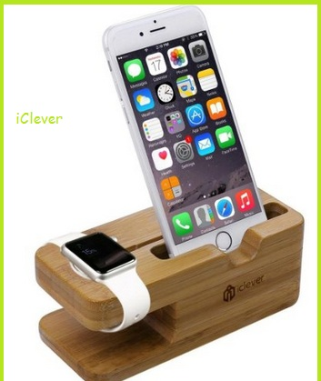 Wooden stand for iPhone and Apple watch