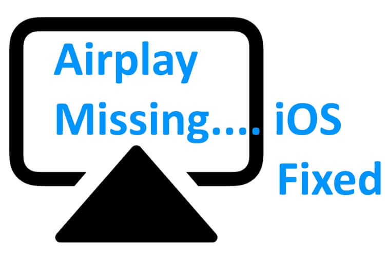Airplay icon missing on iPhone and iPad