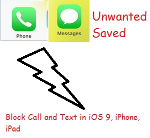 block call and text in iOS 9 device
